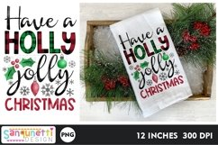 Have a holly jolly Christmas PNG gingerbread Sublimation Product Image 1