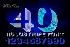 Holostripe Font | Open Type & Woff Product Image 2