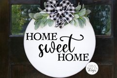 Home Sweet Home SVG   Farmhouse Sign   DXF and More Product Image 1