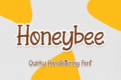 Honeybee - Quirky Handletering Font Product Image 1