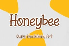 Web Font Honeybee - Quirky Handletering Font Product Image 1