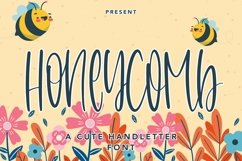 Web Font Honeycomb - A Cute Handletter Font Product Image 1