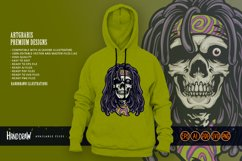 Psychedelic Skull Rasta Character SVG Illustrations Product Image 5