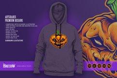 Halloween Skull Monster Carved Mascot Product Image 4
