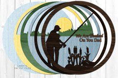 Hooked On You Dad Sign SVG Glowforge Laser Cut Files Product Image 3