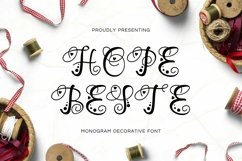 Web Font Hope Beste - Monogram Font Product Image 1