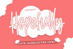 Hopefully - Cute Handletter Font Product Image 1