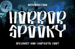 Horror Spooky - New Horror Font Product Image 1