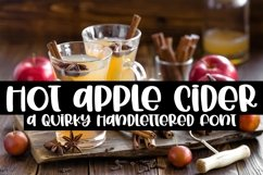 Web Font Hot Apple Cider - A Quirky Handlettered Font Product Image 1