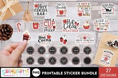 Hot Cocoa Bar lettering and labels PNG sticker bundle Product Image 1