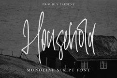 Web Font Household - Monoline Font Product Image 1