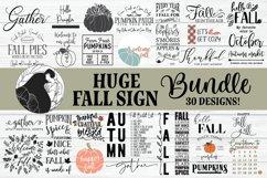 Fall bundle, Huge Fall Sign Bundle, SVG Bundle Product Image 1