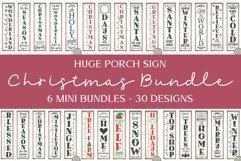 Huge Christmas Sign Bundle - 30 Vertical Christmas Designs Product Image 1