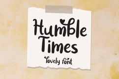 Humble time - Lovely Font Product Image 1