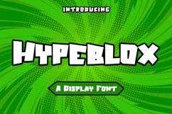 Hypeblox - Display Font Product Image 1