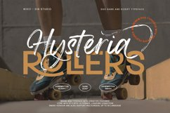 Hysteria Rollers-Sans Script Font Duo Product Image 1