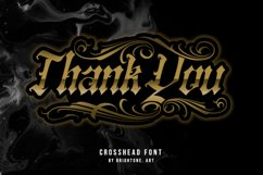 Crosshead - Blackletter Tattoo Font Product Image 4