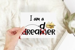 Book Reader Sublimation | Book Quotes PNG | I am a Dreamer Product Image 3