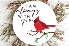 I am always with you SVG | Red Cardinal Memorial Design Product Image 1
