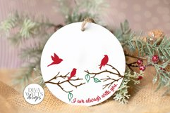 I Am Always With You SVG | Christmas / Memorial Red Cardinal Product Image 4