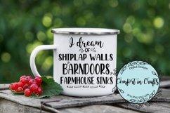 I Dream of Shiplap Walls Barn Doors Famhouse Sinks SVG Product Image 2