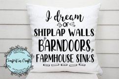 I Dream of Shiplap Walls Barn Doors Famhouse Sinks SVG Product Image 3