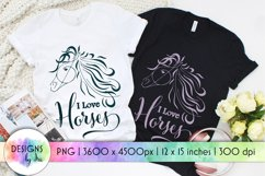 Horse Sublimation   Love Horses   Horse Head Silhouette Product Image 1