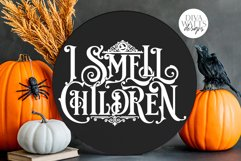 I Smell Children Gothic SVG | Halloween Witch Word Art Product Image 1