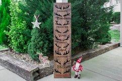 Vertical Christmas Front Porch Sign SVG- Reindeer SVG Product Image 3