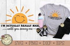 I'm Actually Really Nice-SVG-Sarcastic-Sunshine-Funny Humor Product Image 1