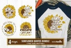 Sublimation sunflower quotes bundle Product Image 1