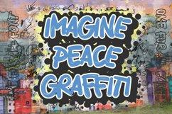 Imagine Peace Graffiti Product Image 1