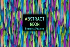 12 Neon Abstract Seamless Patterns Textures Background Color Product Image 1