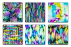 12 Neon Abstract Seamless Patterns Textures Background Color Product Image 5