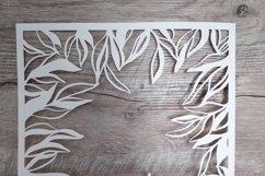 floral frame svg floral Background SVG paper cut template sv Product Image 3