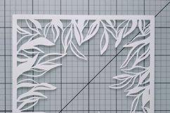 floral frame svg floral Background SVG paper cut template sv Product Image 2