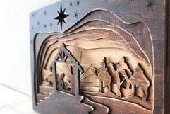 3D Nativity Scene Laser Cut Design   Christmas SVG Product Image 3