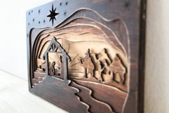 3D Nativity Scene Laser Cut Design   Christmas SVG Product Image 4