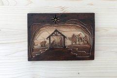 3D Nativity Scene Laser Cut Design   Christmas SVG Product Image 2