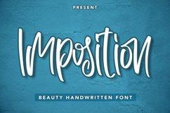 Web Font Imposition - Beauty Handwritten Font Product Image 1