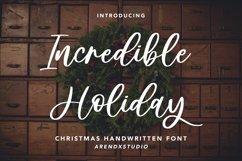 Incredible Holiday - Handwritten Product Image 1