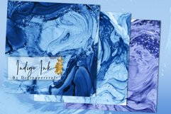Indigo ink Digital Paper, Alcohol Ink textures, Glam Papers Product Image 6