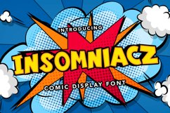 Insomniacz - Comic Display Font Product Image 1