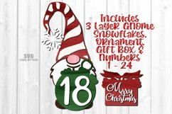 Gnome Christmas Countdown Sign SVG Glowforge Laser Files Product Image 1