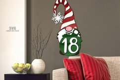 Gnome Christmas Countdown Sign SVG Glowforge Laser Files Product Image 4