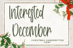 Web Font Interested December - Christmas Handwritten Font Product Image 1