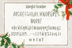 Web Font Interested December - Christmas Handwritten Font Product Image 3