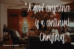 Web Font Interested December - Christmas Handwritten Font Product Image 5