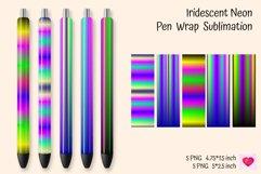 Iridescent Neon Pen Wrap Sublimation. Epoxy Pen Ideas