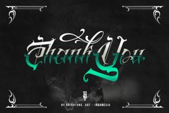 Brightone Vol. 2   Tattoo Lettering Font Product Image 2